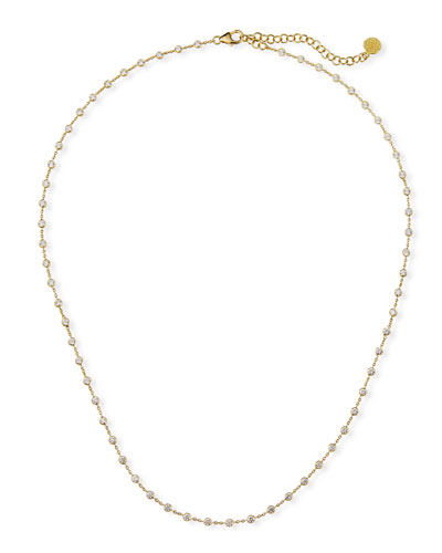 Tarakini 18k All-Around Diamond Station Necklace