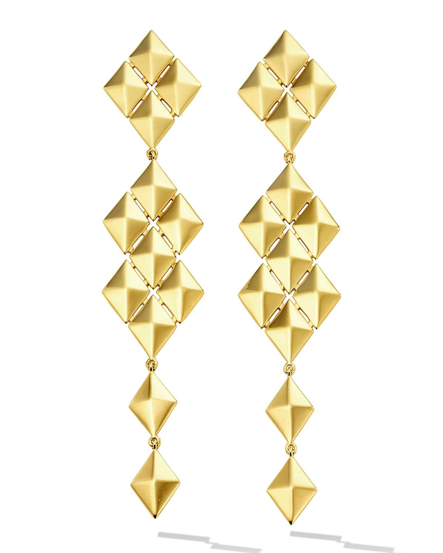 Python 18k Symmetrical Long Drop Earrings