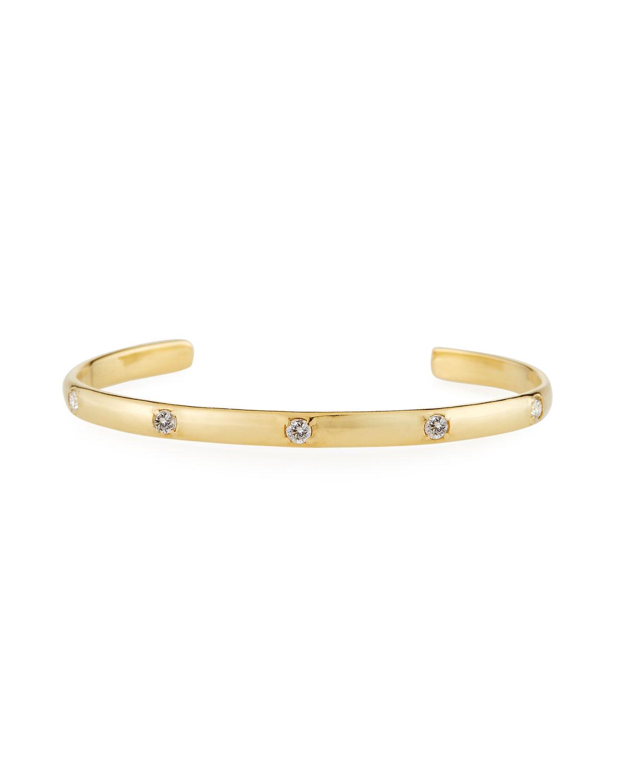 Armenta  SUENO 18K YELLOW GOLD 3MM WHITE DIAMOND CUFF BRACELET
