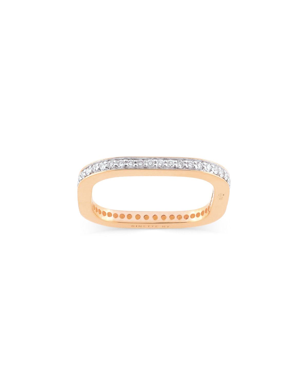 TV 18k Rose Gold Diamond Ring