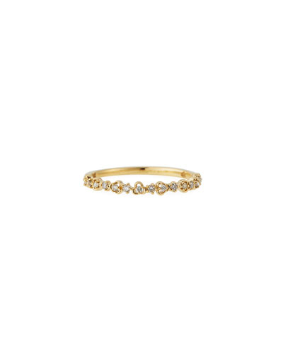 14k Yellow Gold White Diamond Vine Ring