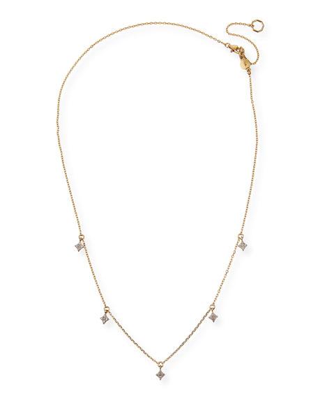 Stevie Wren 14k Gold Four-Point Diamond Star Dangle Necklace