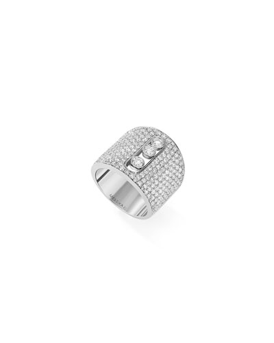 Move Joaillerie White Gold Pave Large Ring