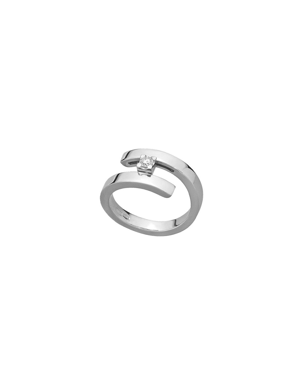 18k White Gold 1-Diamond Ring