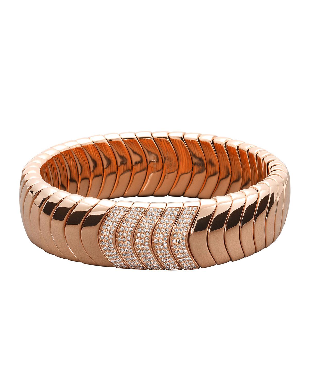 18k Rose Gold Diamond Stretch Bracelet