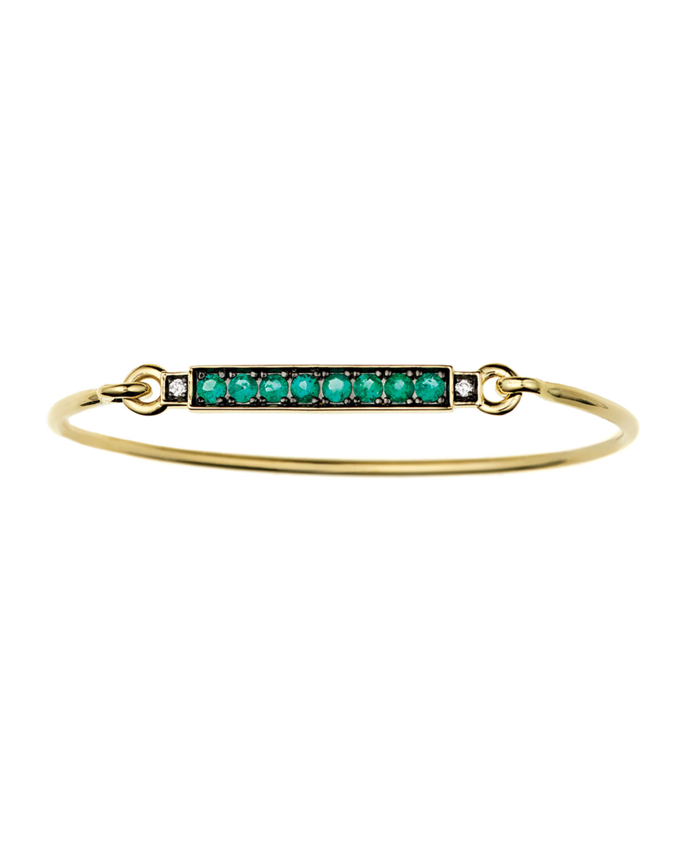 Prive 18k Emerald-Bar Bracelet w/ Diamonds