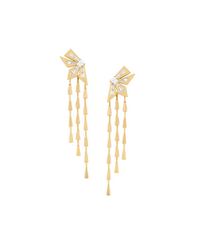 18K Yellow Gold Dynamite Cascade Earrings w/ Diamonds