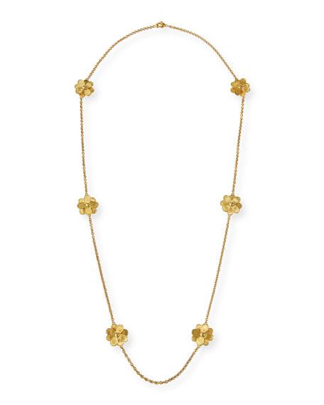 Marco Bicego Petali 18k Long 6-Flower Necklace