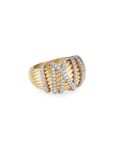 Helena 18k Diamond Large Domed Ring, Size 7