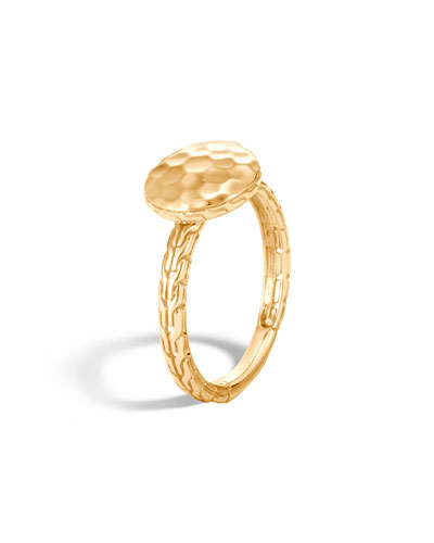 18k Hammered Ring, Size 7