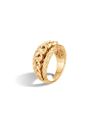 Asli Classic Chain 18k Link Ring, Size 7