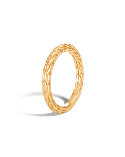 Classic Chain 18k Gold Ring, Size 6