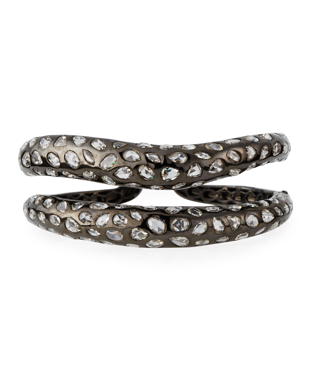 18k Split Double-Wave Diamond Bracelet