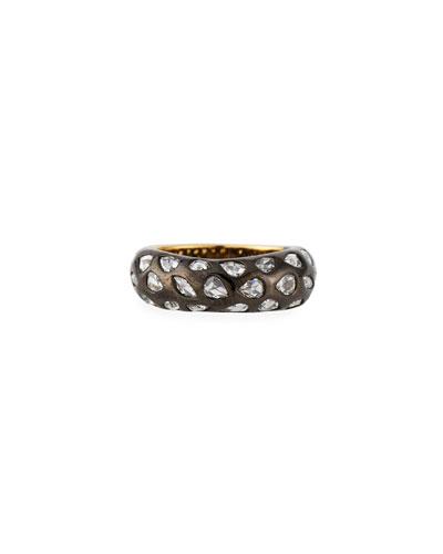 18k Yellow Gold Diamond Ring, Size 6