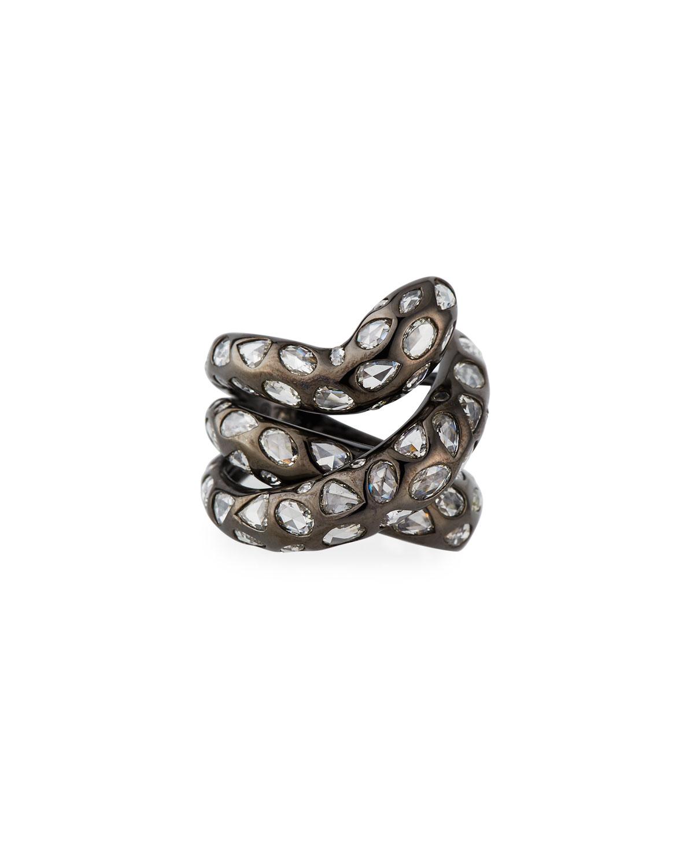 Crisscross 18k White Gold Diamond Ring