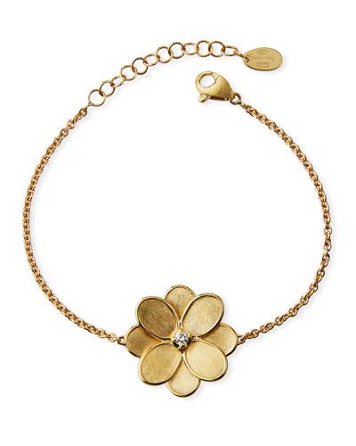 Petali 18K Hand-Engraved Bracelet w/ Diamond