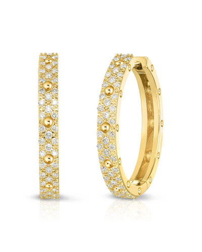 Pois Mois 18k Yellow Gold Diamond Hoop Earrings, 20mm