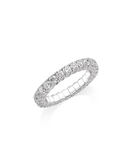 Picchiotti Xpandable 18k White Gold 1-Row Round Diamond Ring, Size 6-8.75