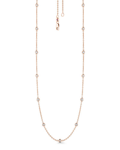 18k Rose Gold Diamond By-the-Yard Necklace