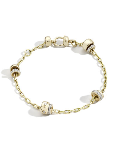 Iconica 18K Rose Gold Diamond Chain Bracelet