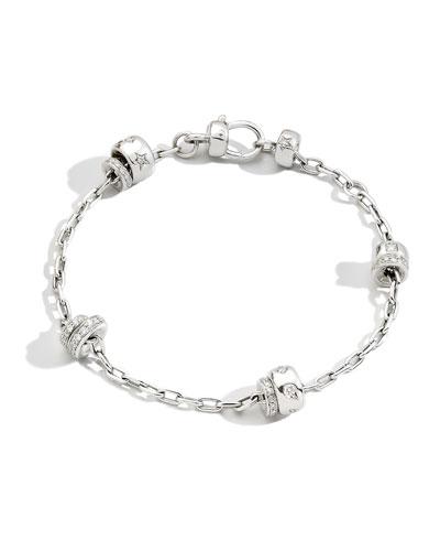 Iconica 18K White Gold Diamond Chain Bracelet