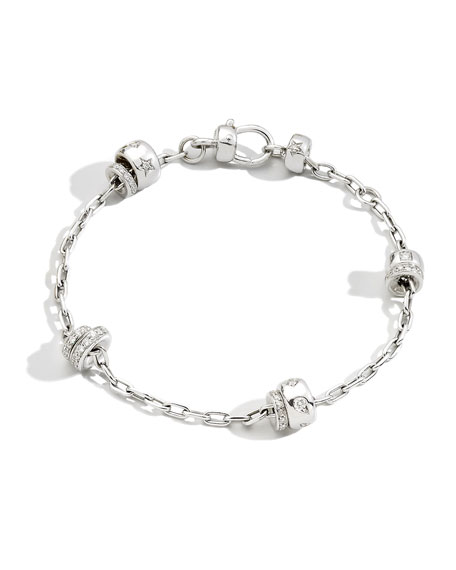 Pomellato Iconica 18K White Gold Diamond Chain Bracelet