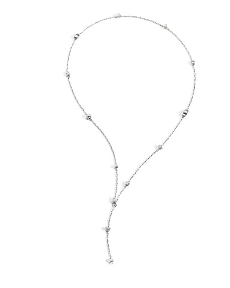 Pomellato Iconica 18K White Gold Diamond Chain Necklace