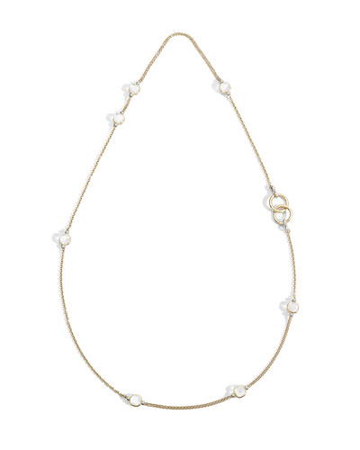 Nudo 18K White Topaz/Mother-of-Pearl Sautoir Necklace