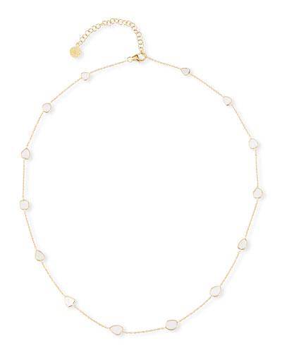 Polki Diamond-Slice Station Necklace in 18k Gold