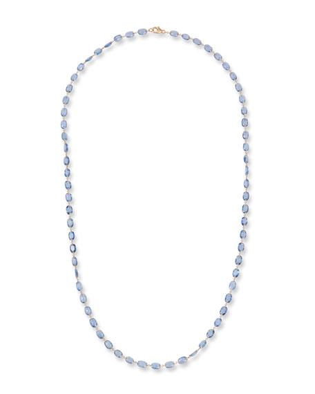 Etho Maria 18k Rose Gold Blue Sapphire Necklace