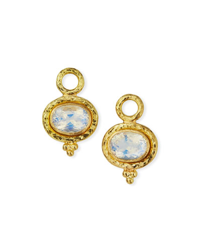 19k Moonstone Earring Pendants