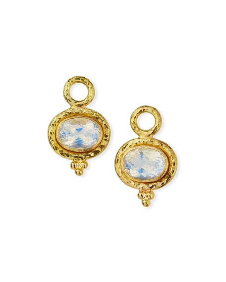 Elizabeth Locke 19k Moonstone Earring Pendants