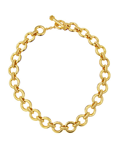 19K Gold Ravenna Link Necklace, 17