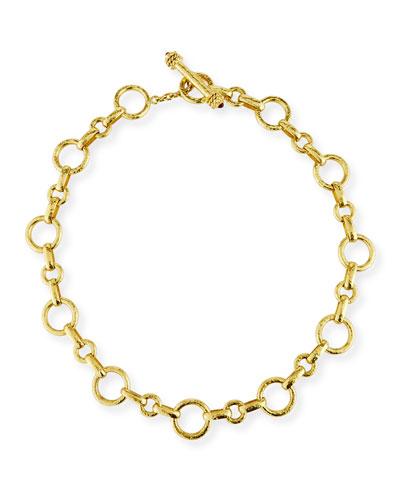 19k Large Siena Link Necklace