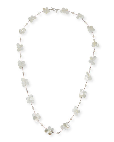 White Pearl & Mother-of-Pearl Necklace, 35