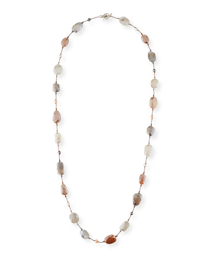 Moonstone & Pearl Necklace, 35
