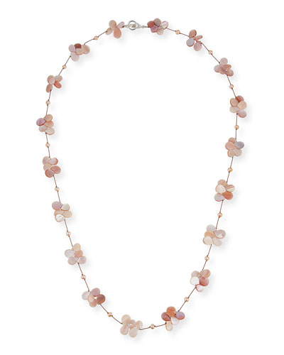 Pink Pearl & Mother-of-Pearl Necklace, 35