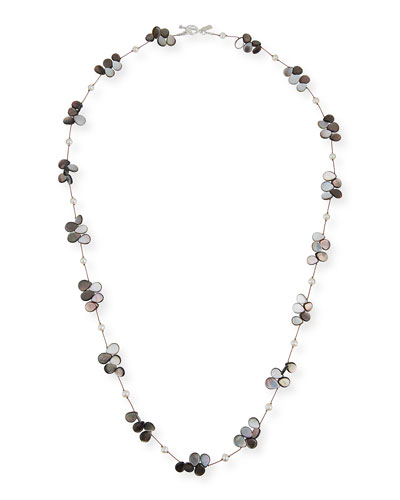 Pearl, Abalone & Mother-of-Pearl Necklace, 35