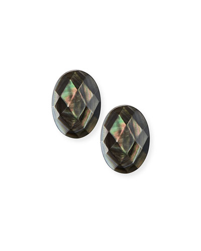 Abalone Oval Post Earrings