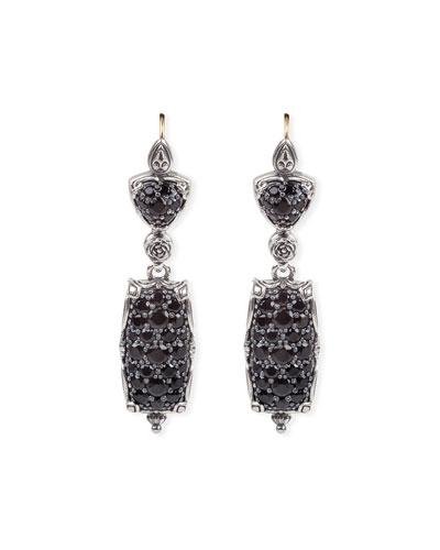 Circe Black Spinel Dangle Earrings