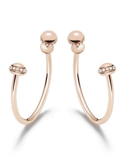 Possession 18k Rose Gold Detachable Diamond Hoop Earrings