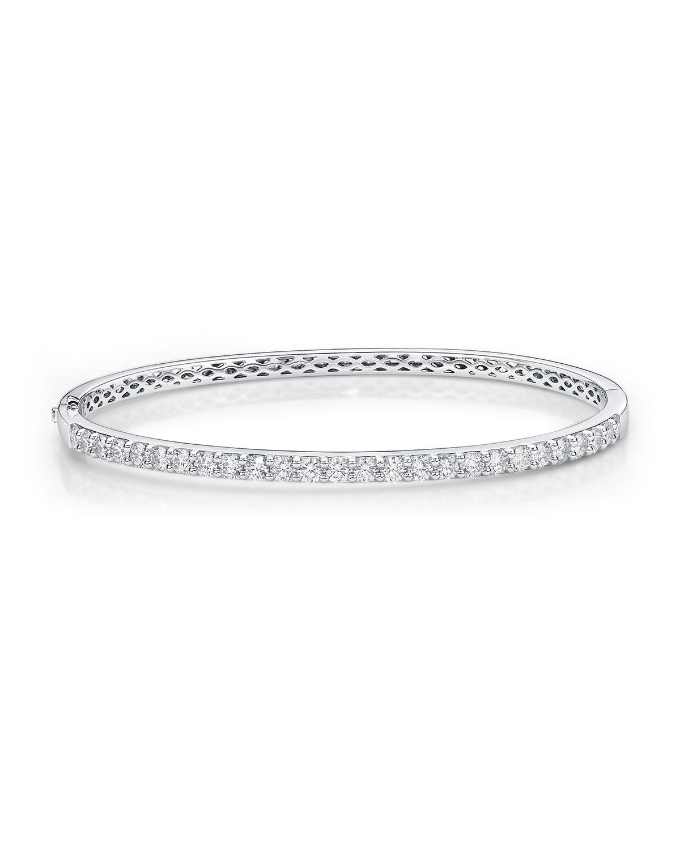 18k White Gold Diamond Fashion Bangle