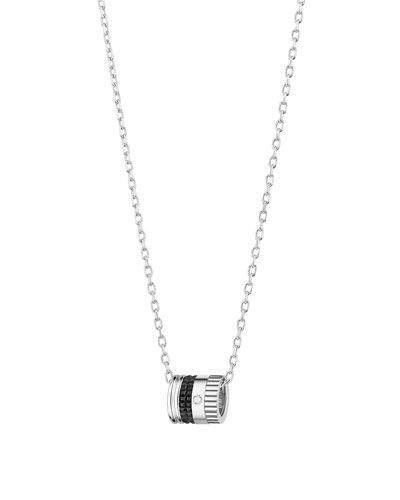 Quatre 18k White Gold 1-Diamond Pendant Necklace