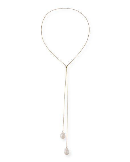 Margo Morrison Baroque Pearl Lariat Necklace