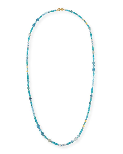 18k Bohemian Mixed-Stone Necklace, 48