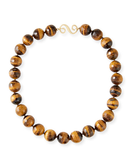 Splendid Company 18k Tiger's Eye Hand-Knot Necklace