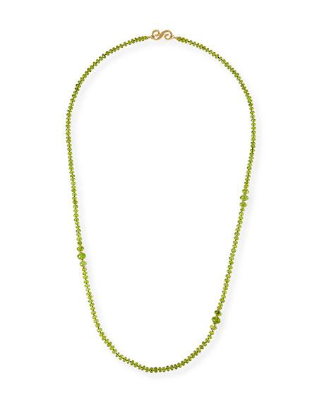 "Splendid Company 18k Long Peridot Necklace, 36""L"