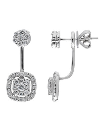 18k White Gold Diamond Earring Jackets