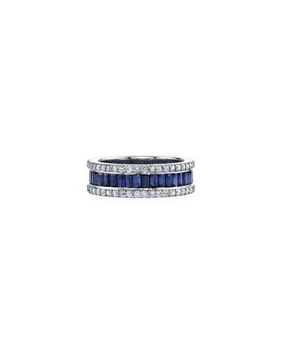 Diamond & Sapphire Eternity Ring, Size 7
