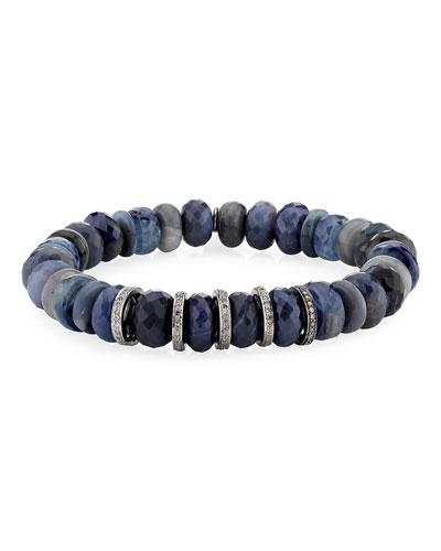 10mm Multi-Stone & Diamond Rondelle Bracelet